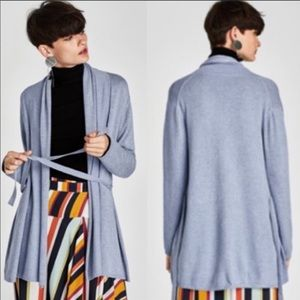 Zara Cardigan Light Blue Sweater Knitwear Small